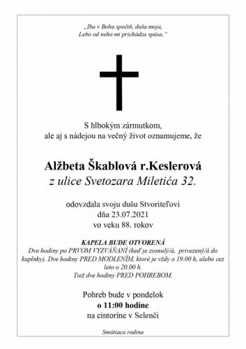 Alžbeta Škabla