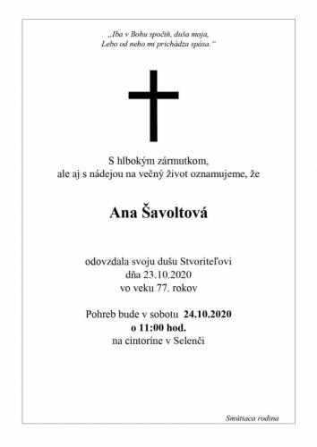 Ana Šavoltova