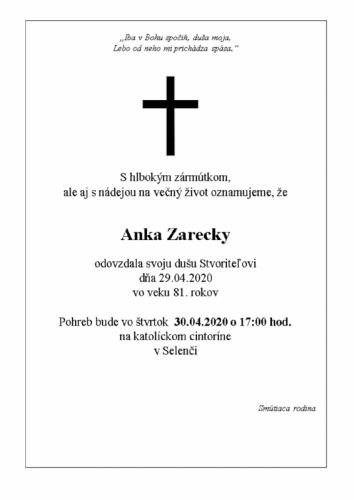 Anka Zarecky
