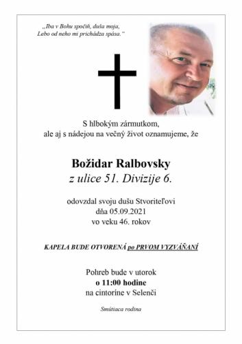 Božidar Ralbovsky