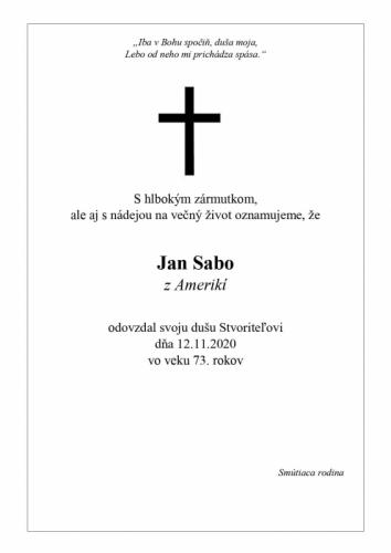 Jan Sabo