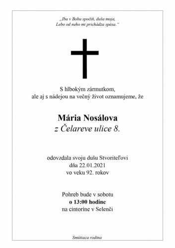 Maria Nosalova
