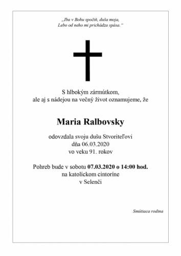 Maria Ralbovsky