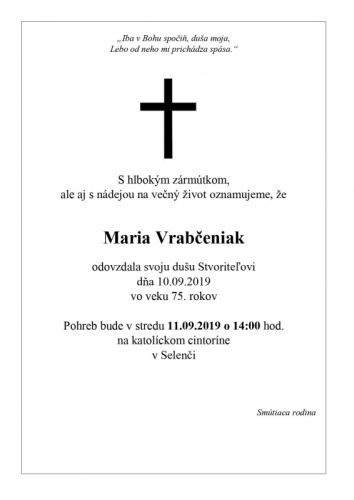 Maria Vrabčeniak